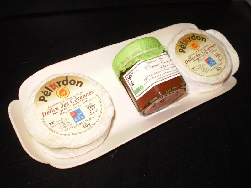 2 Pélardon AOP + 1 pot préparation fruits - Produits laitiers