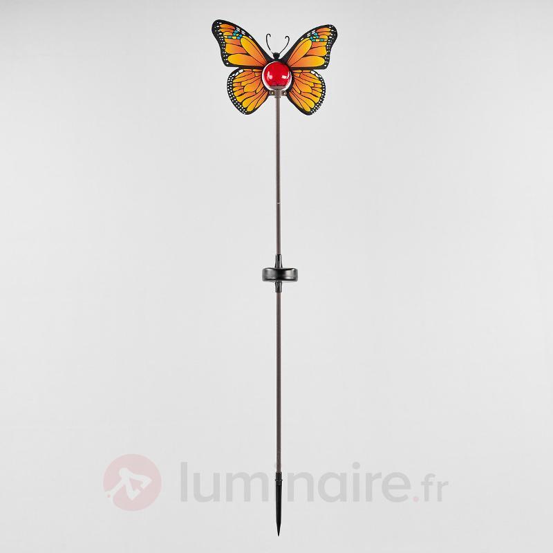 Lampe solaire LED Papillon jaune - Lampes solaires décoratives
