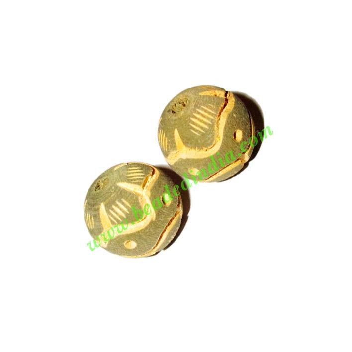 Wooden Carved Beads, size 20mm, weight approx 2.5 grams - Wooden Carved Beads, size 20mm, weight approx 2.5 grams