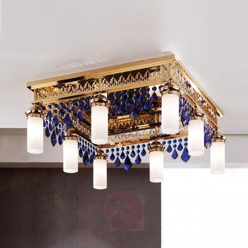 Kito Ceiling Light with Blue Crystal Decorations - Ceiling Lights