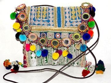 Indian Handmade Banjara Zari Bag