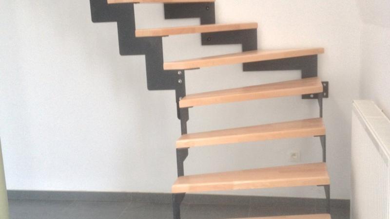 Escalier en bois massif huilé - Hêtre