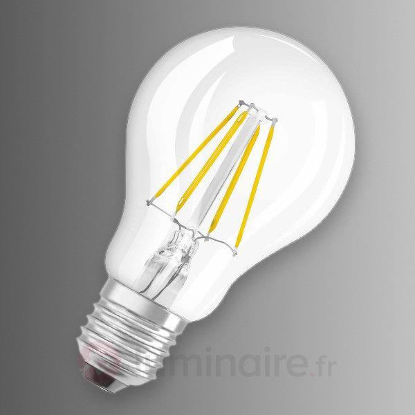 Ampoule LED E27 7W 827, transparente - Ampoules LED E27