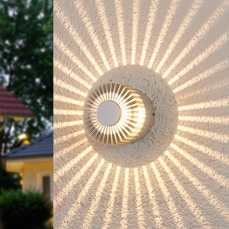 Applique d'extérieur LED Lennias couleur aluminium - Appliques d'extérieur LED