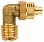 Angled screw-in fitting, R 1/4 o., for hose 10/8 mm,... - Male elbow, brass