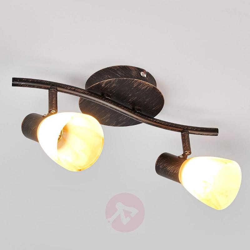 Ceiling lamp Duena with glass lampshades - Ceiling Lights