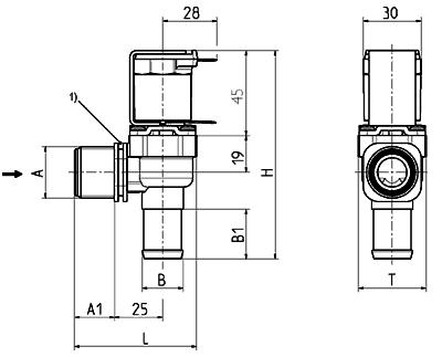 Servo-controlled Solenoid Valve NC, DN 13 - 01.013.115