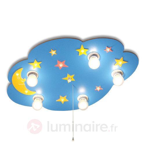 Plafonnier Petit Nuage + veilleuse - Chambre d'enfant
