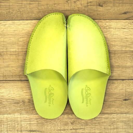 Green CP Slippers - Green leather slippers