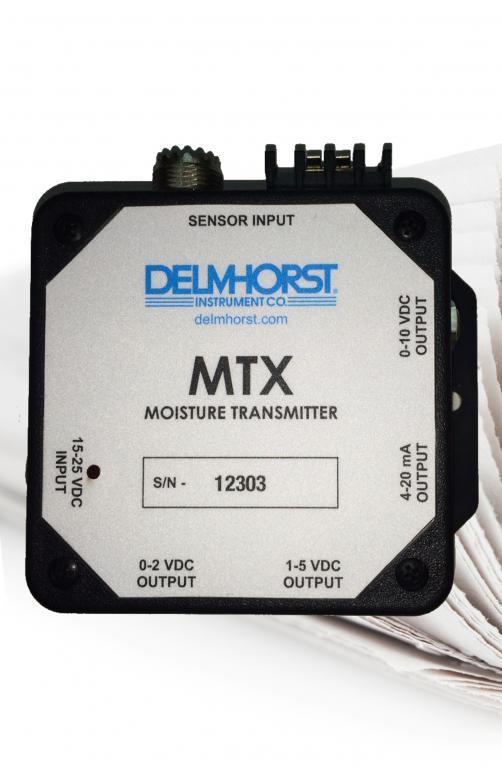 Moisture transmitter for paper