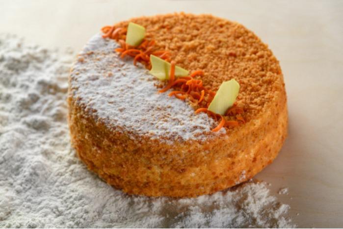 Burkānu torte - Burkānu torte ar oranžu pildījumu
