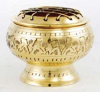 Brass Charcoal Burner 3 inch