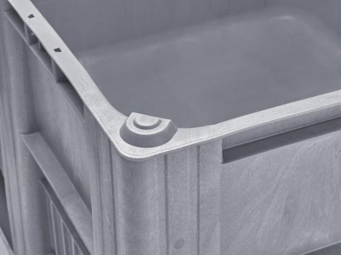 Caisse Palette CB3 - Ciasse Palette, Conception par injection monobloc avec 3 semelles renforcées