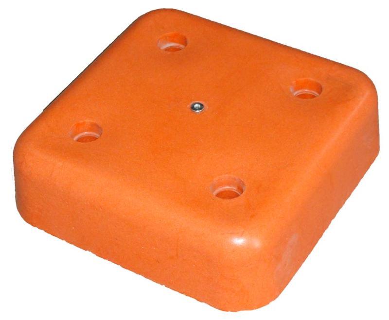 BORNES DE GEOMETRE - Tête polygonale 320mm X 320mm orange