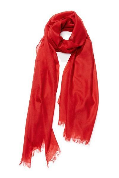 Etole cachemire unie - col 25 – rouge