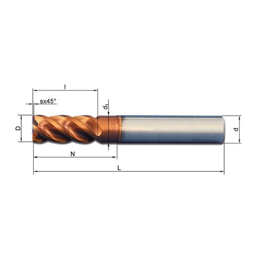 Vollhartmetallfräser VHM 441W-03 Ti08 - null