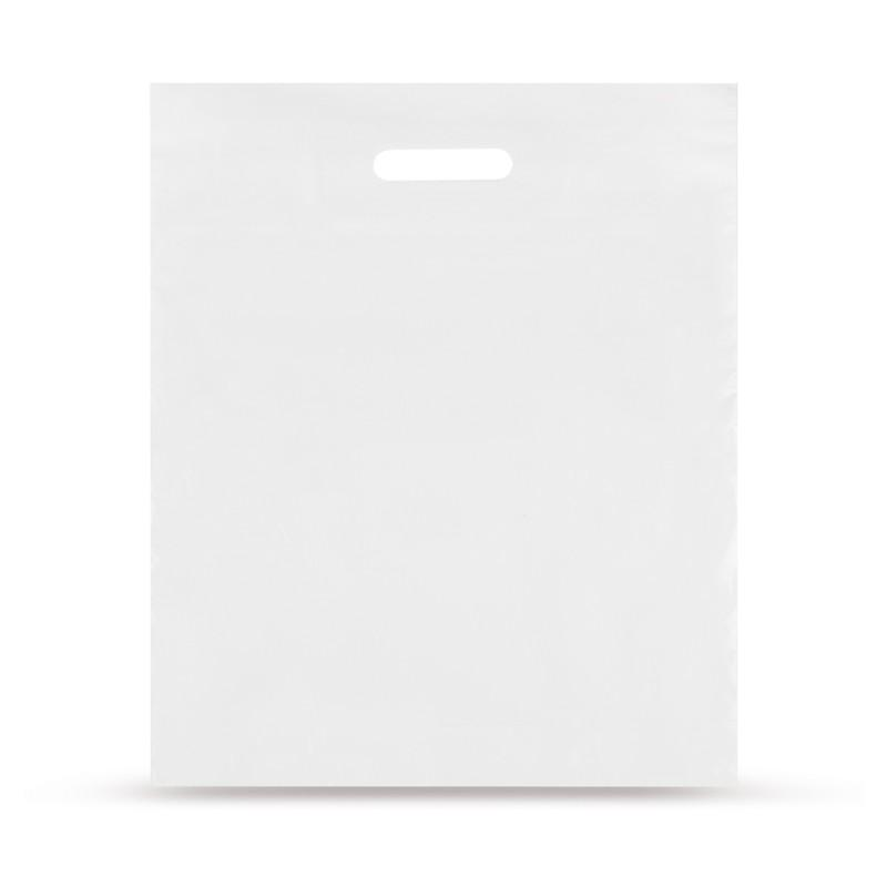 LDPE-Grip Hole Carrier Bags White Colored Unprinted
