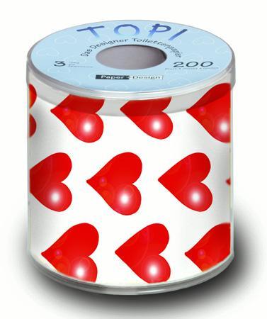 Toilettenpapier - Herzen