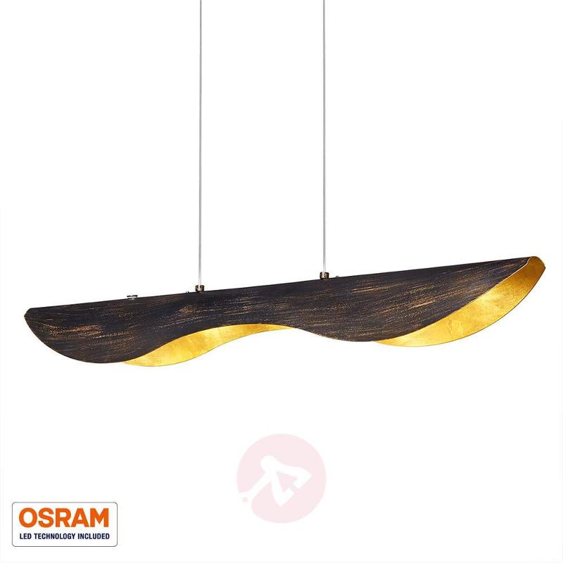 Black-gold Montreal LED-pendant light - Pendant Lighting
