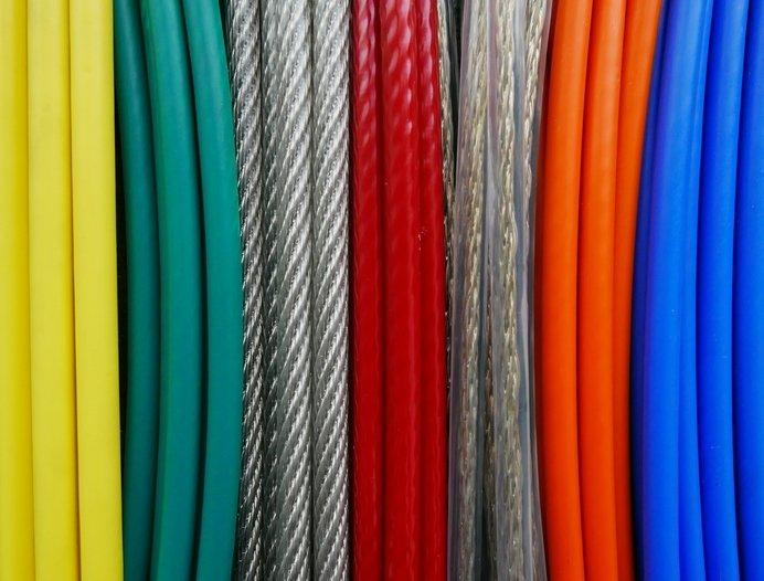 Plastic Coated Steel Wire Ropes -