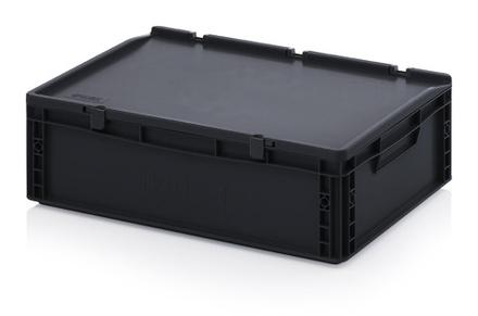 ESD Euro containers with lid - ESD Euro containers with lid 60x40x17 cm