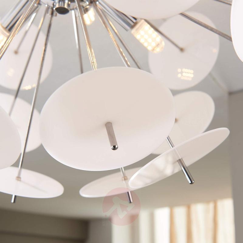 Lyrien LED ceiling lamp with white plastic discs - indoor-lighting