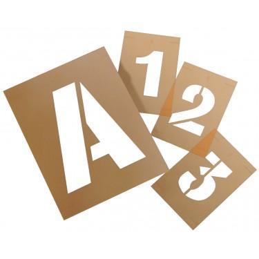 Pochoir industriel pour sol - Kit de Pochoirs de Lettres A-Z en PVC réutilisable