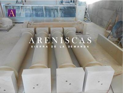 Arenisca Dorada - Columnas - balaustres - bolas - ■ stone columns ■ Colonnes en pierre