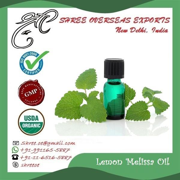 Organic Lemon Melissa Oil  - USDA Organic