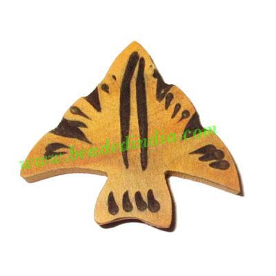 Handmade wooden fancy pendants, size : 32x36x5mm - Handmade wooden fancy pendants, size : 32x36x5mm