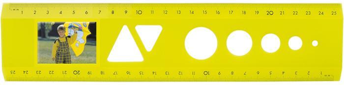 Lineale für Bild- und Werbediastreifen - Das Bildlineal Neon Gelb