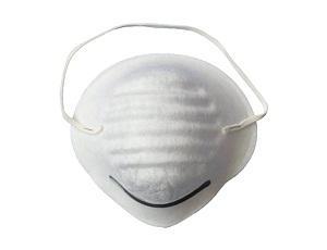 Máscara contra el polvo fundida - Estilo: Material del lazo de la cabeza: Nonwoven fundido-soplado Color: blanco T