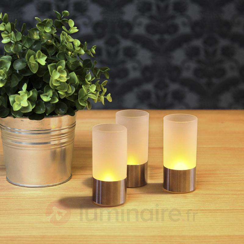 Photophore LED moderne, set de 3 - Bougies LED