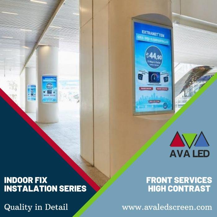Viesnīcu reģistratūras informācijas ekrāni - Informācija Milzu AVA LED displeji