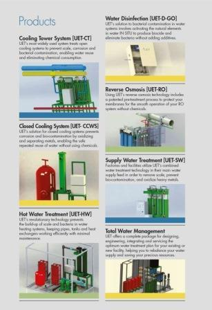 UET water treatment - Non-chemical additive treatment of industrial process water