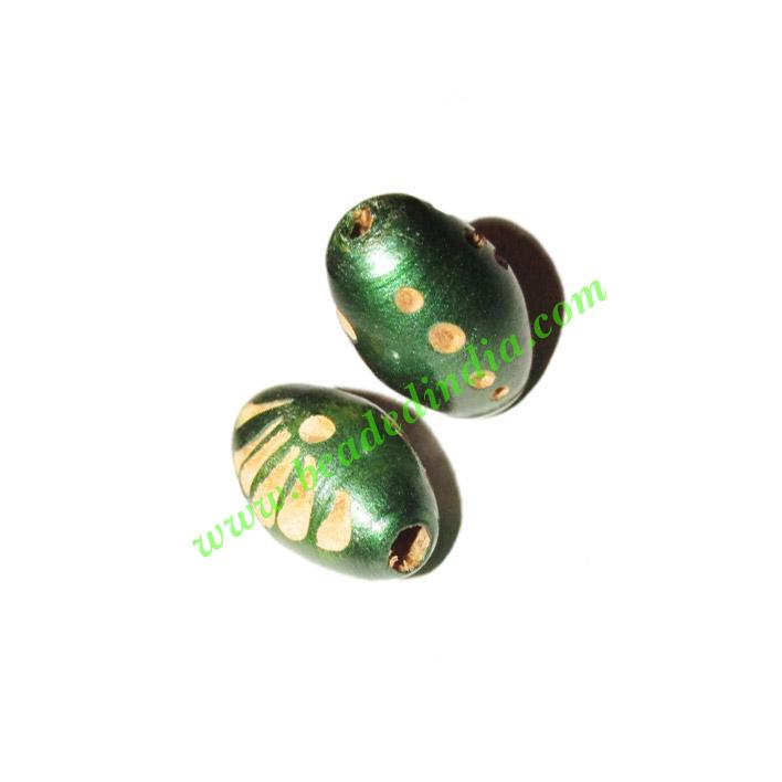 Wooden Carved Beads, size 11x18mm, weight approx 0.82 grams - Wooden Carved Beads, size 11x18mm, weight approx 0.82 grams