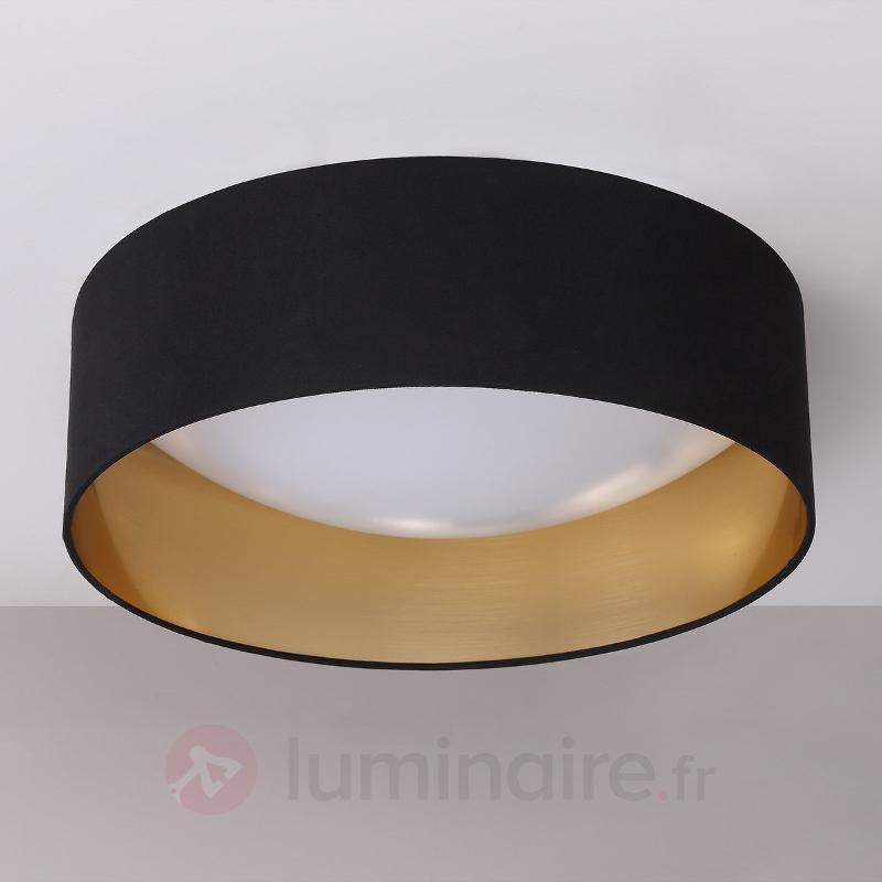 Plafonnier en tissu Coleen noir doré à l'intérieur - Plafonniers en tissu