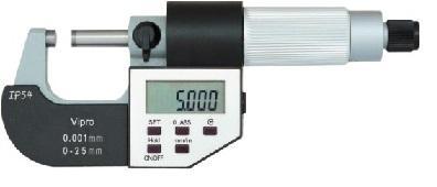 Электронный внешний микрометр - Электронный внешний микрометрIP 65 пыль / водонепроницаемый 5 кнопок Выпуск: 0,0