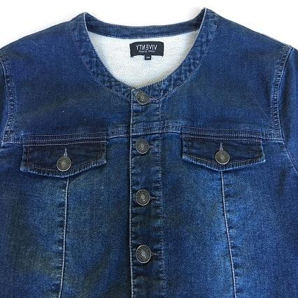 Women's denim wear  Stonewashed blue denim jacket  -