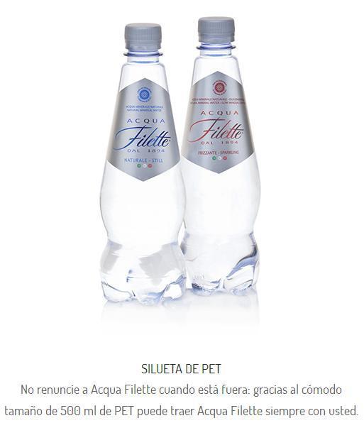 Agua Mineral Fillete, Pet 50 cl. La mejor agua del mundo.