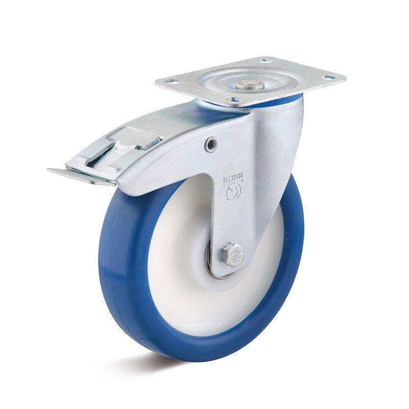 Polyurethan Standard-Rollen bis 450 kg - PUZK Radserie in Standard IL-Gehäuse Stahlblech, verzinkt