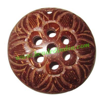 Handmade coconut shell wood pendants, size : 52x3mm - Handmade coconut shell wood pendants, size : 52x3mm