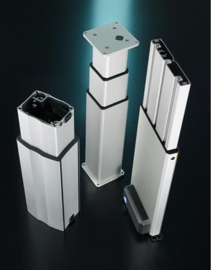 Columnas elevadoras - Simplificación del ajuste de la altura
