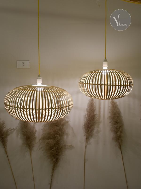 Lantern Bamboo Pendant Light - Shop