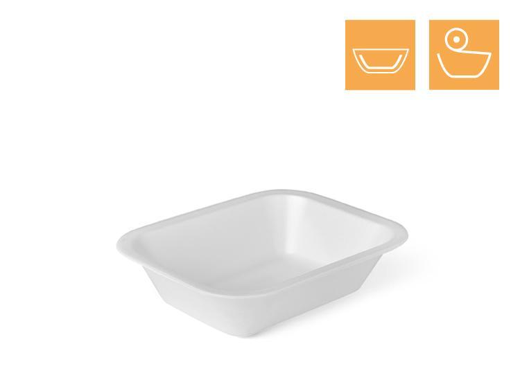 Menu tray 621, 1-comp, laminated - EPS Sealing trays