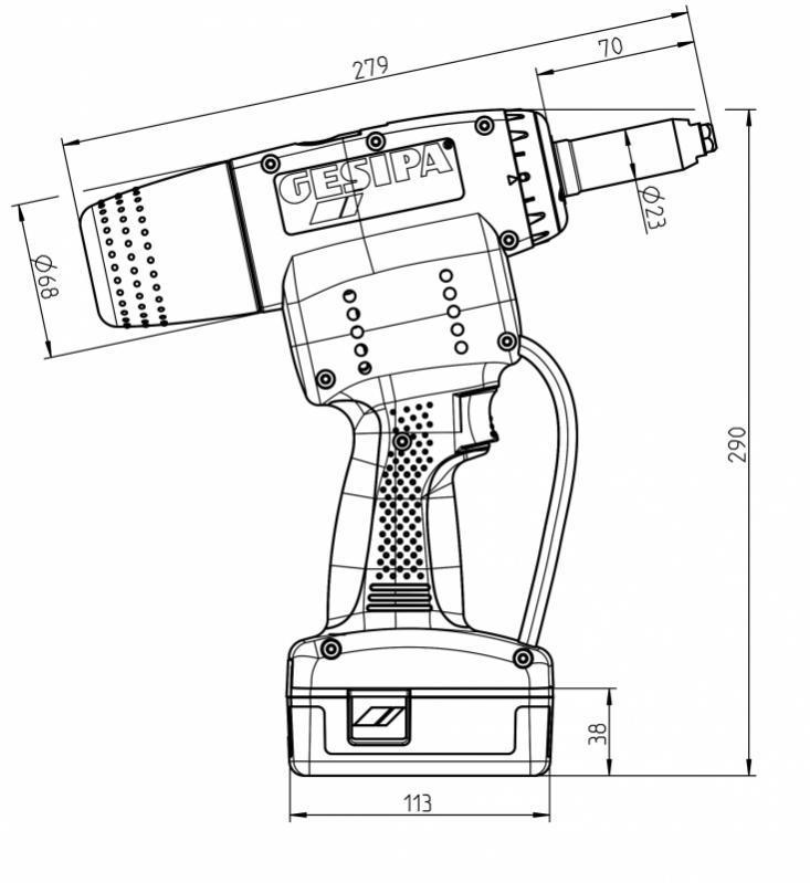PowerBird® Pro (blind rivet setting tools) - PowerBird® Pro (Battery powered blind rivet setting tools)