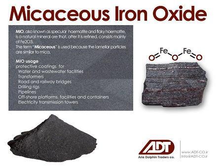 MICACEOUS IRON OXIDE-MIO -  Micaceous Iron Oxide is a unique type of Hematite iron ore.
