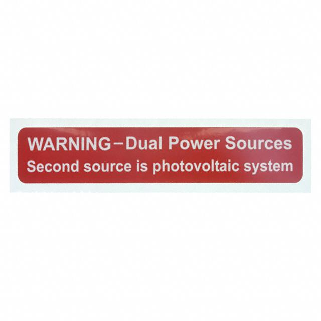 "LABEL ID/RATINGS 4.12""X0.75"" - TE Connectivity Raychem Cable Protection SOL-DPS-104019-4-0.5"