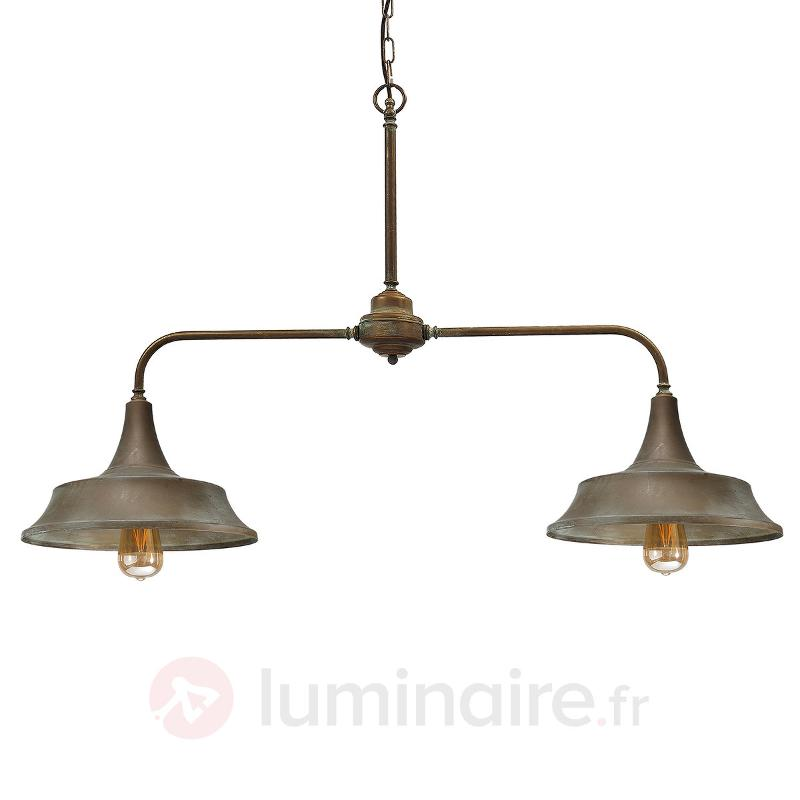 Garza à 2 lampes Plafonnier rampe industriel - Toutes les suspensions