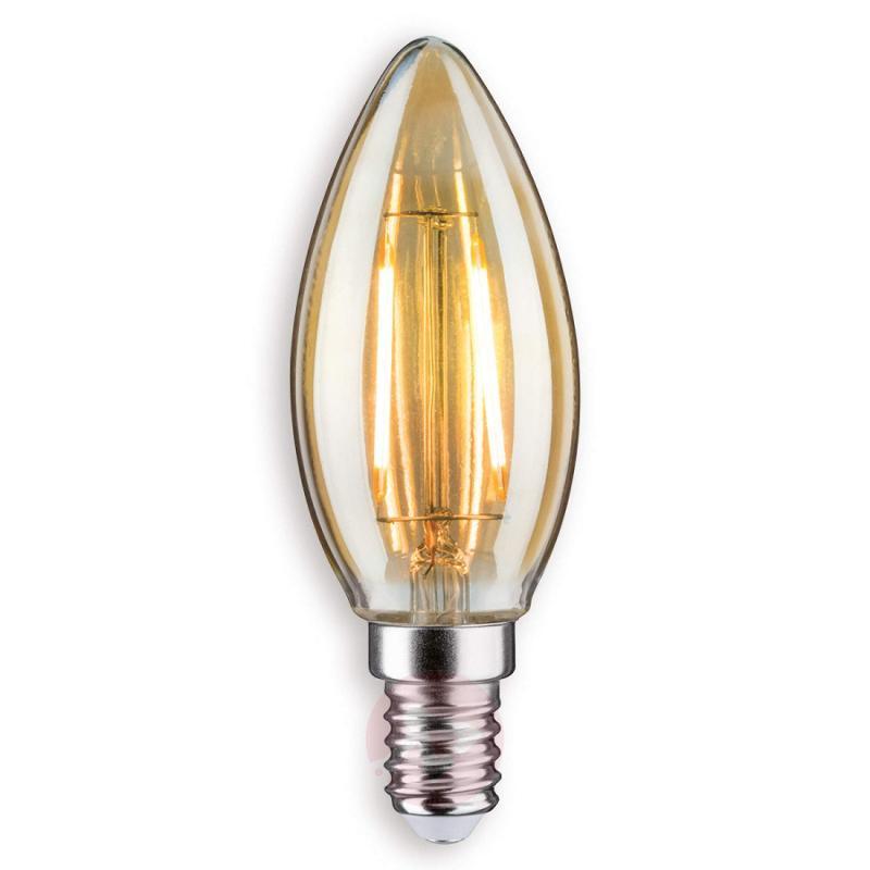 E14 2.5 W 825 LED candle bulb, gold - light-bulbs